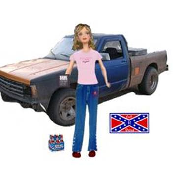 Purchase her pickup truck separately and get a confederate
